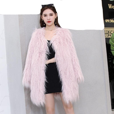 Winter Coats for  Women Furry Fluffy  Faux Fur  Plus Size