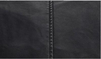 Long Leather  Jacket for Men Faux Fur Thicked Plus Size