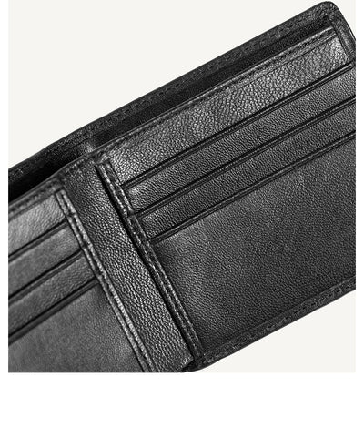 Genuine Sheepskin Leather Wallets for  Men   Bifold Business Suits