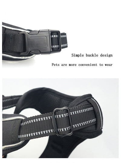 Dog  LED Harness  Nylon Flashing Light Safety