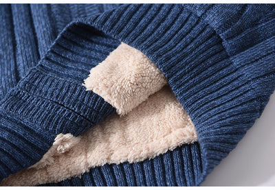 Cotton Knitted Sweater  for Men  Plus Size  Wool Liner