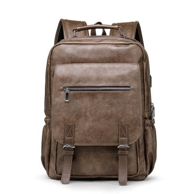 Leather Backpacks for Men Retro  Fashion