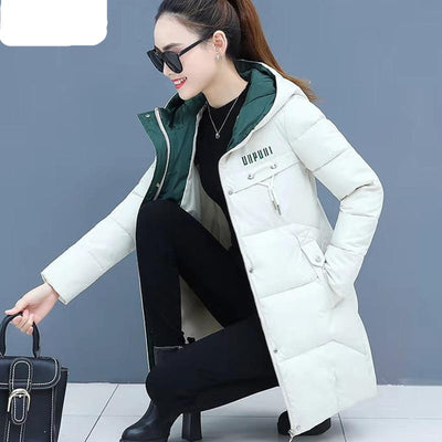 Winter Coat Women Wadded Jacket Long Parka Hooded   Plus Size