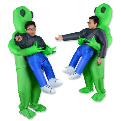 Alien Mascot   Halloween Costume  Carrying Human  Inflatable