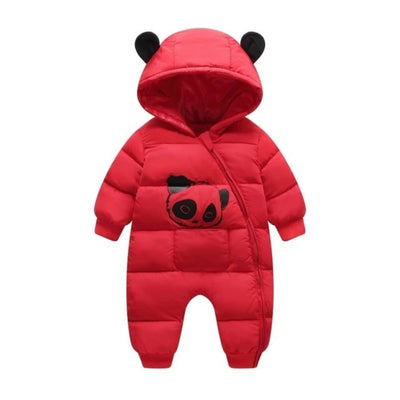 Baby Boy Girl Clothes  Winter Hooded Rompers Thick Cotton