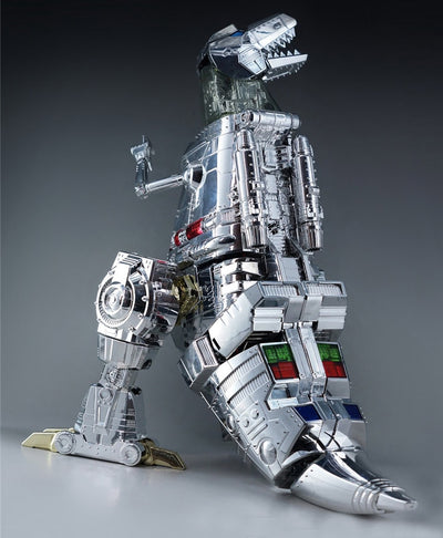 "Action Figures 11""  Grimlock Transformation MP-08 Oversize Electroplated version"