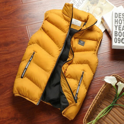 Cotton Men's Jacket Sleeveless  Vest  Thicken