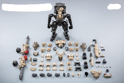 "Action Figures 2 pcs./ lot  9"" and 3"" Robot Military Steel Bone H07 Desert"