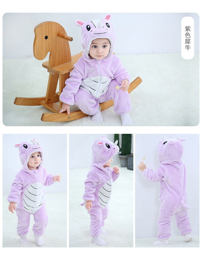Baby Girls Boys Clothes Rompers Winter Animal Jumpsuit