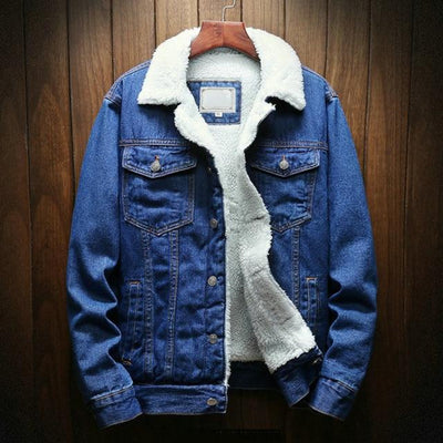 Fleece Denim Jackets  for Men  Plus Size