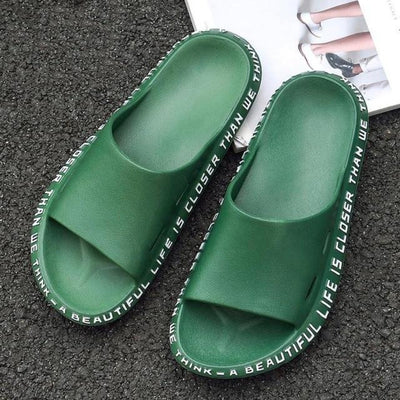 Summer  Sandals Beach Slide  Words Alphabet Non-Slip