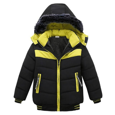 Winter Boys  Clothes Jackets Hooded Thick Warm Cotton-padded