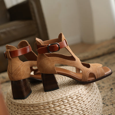 Women Summer  Sandals Genuine Leather  Open Toe Rome Style