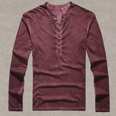 Mens T Shirts Casual Long Sleeve  Old Color