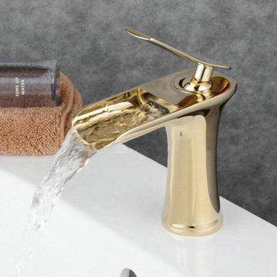 Waterfall Bathroom Faucet  Basin Mixer
