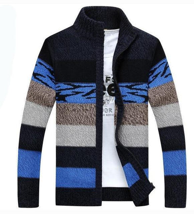 Knitted  Sweater for Men Zip Front