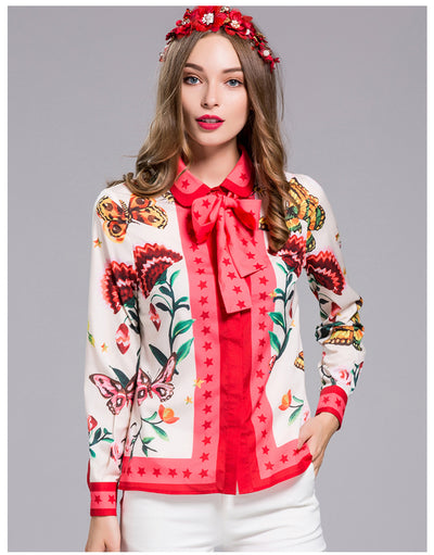 Blouses for Women Long sleeve  Floral Print
