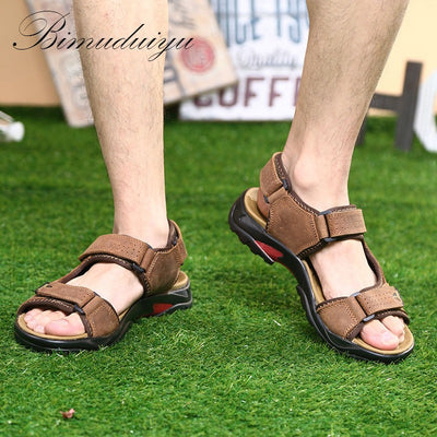 Mens Leather Sandals  Polka Dot