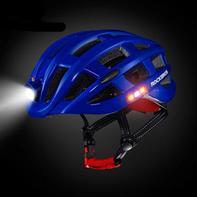 Bike Helmets Intergrally-molded with Light