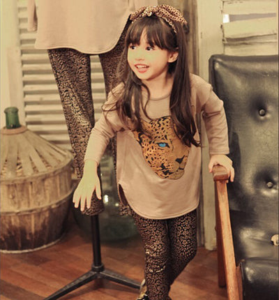 Girls  Legging  Sets Full Sleeve T Shirt + Legging