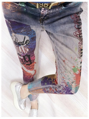 Jeans for Women Bronze Painting
