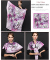 Scarves for Women 100% Silk Big Square Silk Scarves Shawl