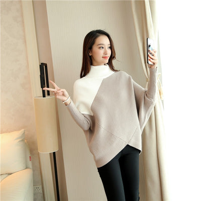 Sweaters for Women Cashmere Loose Pullover Turtleneck