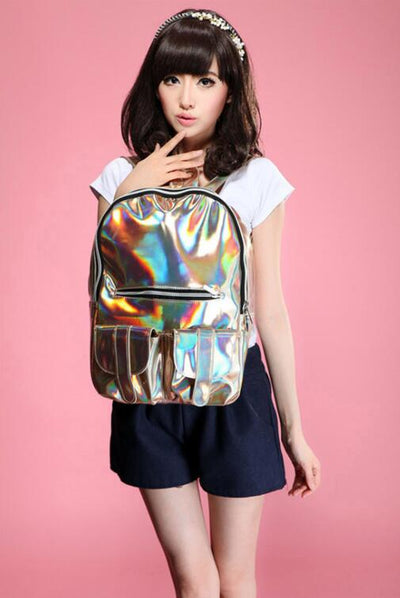 Shiny Backpack for Teens