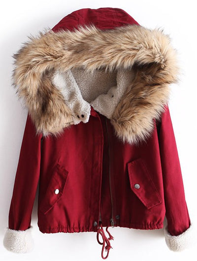 Womens Winter Coats Fur Hooded