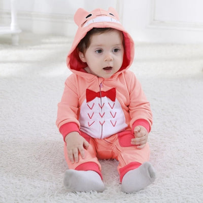 Baby Clothes Pure Cotton  Jumpsuits with Hood