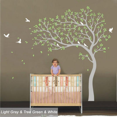 Wall Decals PVC Large Branches Tree & Birds Removable Wall Sticker