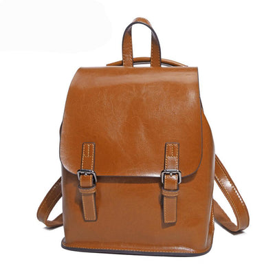 Backpack for Teens Genuine Leather