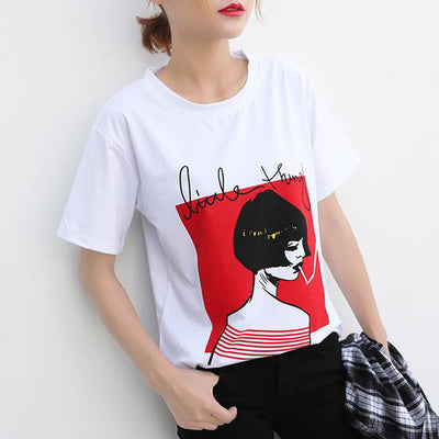 T Shirts for Women  Short Sleeve Printed New Design