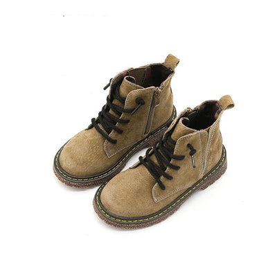 Kids  Boots  Genuine Leather Lace Up