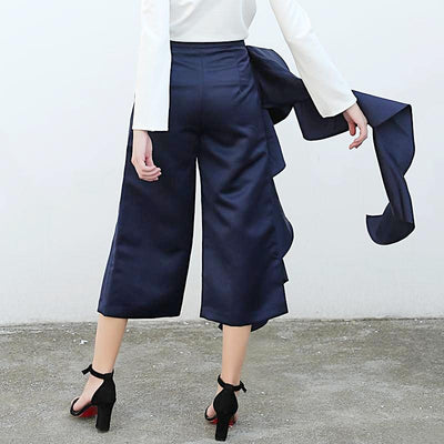 Ruffle Pants  for Women Wide Leg High Waist