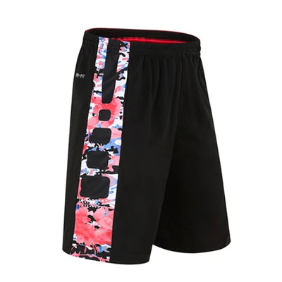 Basketball Shorts Elastic Zipper Pocket