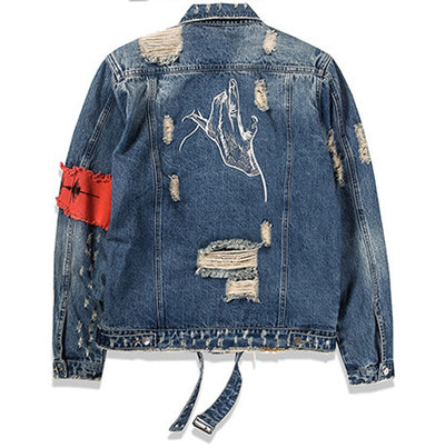 Jean Jackets for  Men Patchwork