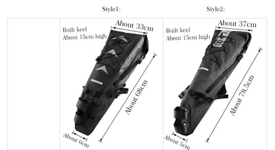Saddle Bag for Bicycle Waterproof Reflective Large Capacity Foldable Tail