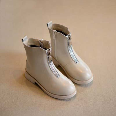 Kids  Boots  Genuine Leather Zip Ankle