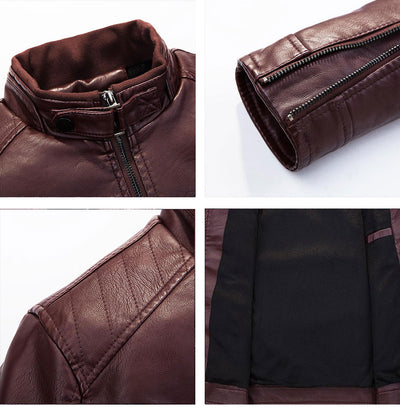 Leather Jacket  Mens Smart Casual Style