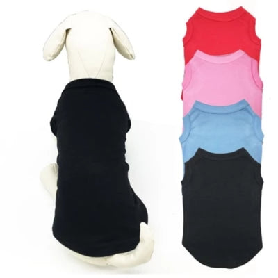 Dog Clothes 12pieces/lot  Blank T Shirts  for Summer