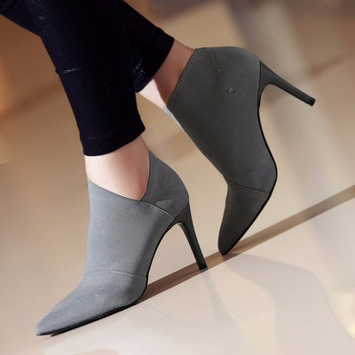 Boots for Women Pointed Toe High Heels Ankle Boots