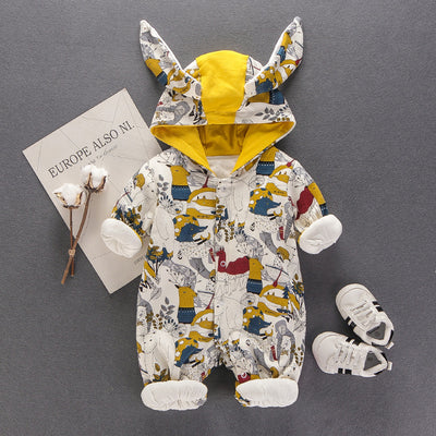 Newborn Baby  Clothes Cartoon  Rompers Spring Down