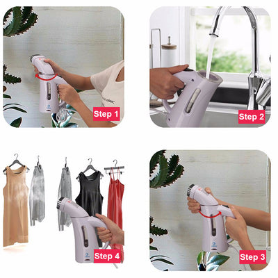Portable Clothes Steamer with Steam Brush