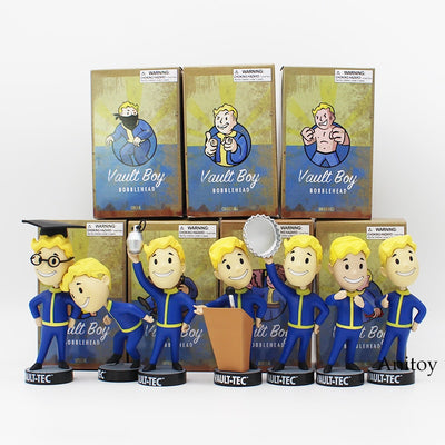 Action Figures  Approx. 5 inches Fallout Vault Boy Bobble Head