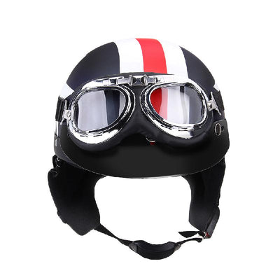 Motorcycle Helmets with Goggles