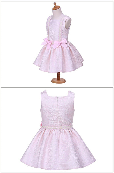 Girl Dress Summer Pink Flower Boutique With Headband
