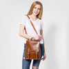Backpacks for  Women  Split Leather