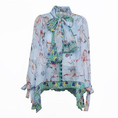 Blouses for Women Floral Print Long Sleeve