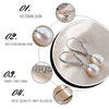 Earrings for Women Elegant Real Natural Pearl 925 Sterling Silver